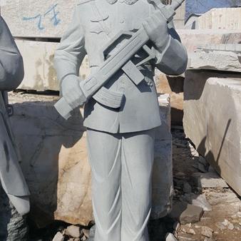 【人物雕塑0360】军事人物石雕像雕刻厂