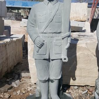 【人物雕塑0361】军事人物石雕像厂