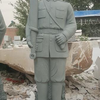 【人物雕塑0362】军事人物石雕像批发