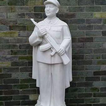【人物雕塑0363】军事人物石雕像定制