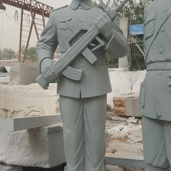 【人物雕塑0364】军事人物石雕像公司