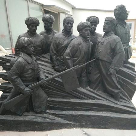 【人物雕塑0365】军事人物石雕像厂家