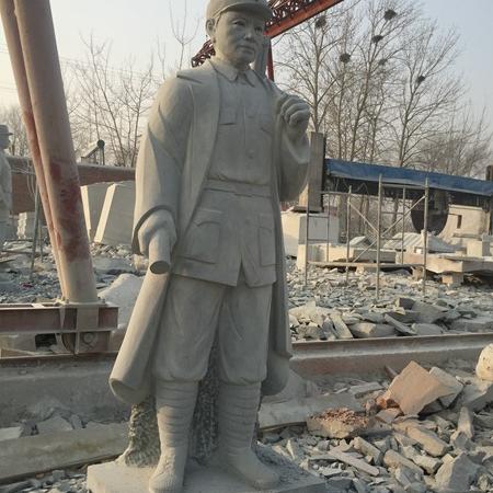 【人物雕塑0366】军事人物石雕像定做