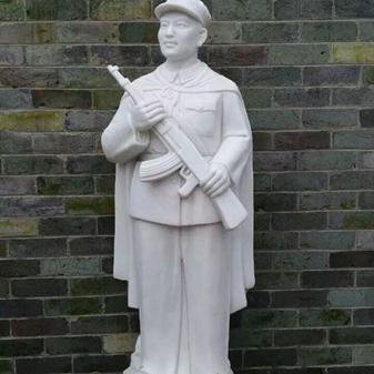 【人物雕塑0368】军事人物石雕像供应