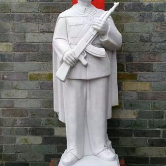 【人物雕塑0370】军事人物石雕像价格