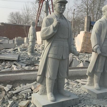 【人物雕塑0371】军事人物石雕像多少钱