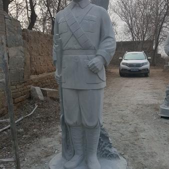 【人物雕塑0374】军事人物石雕像批发
