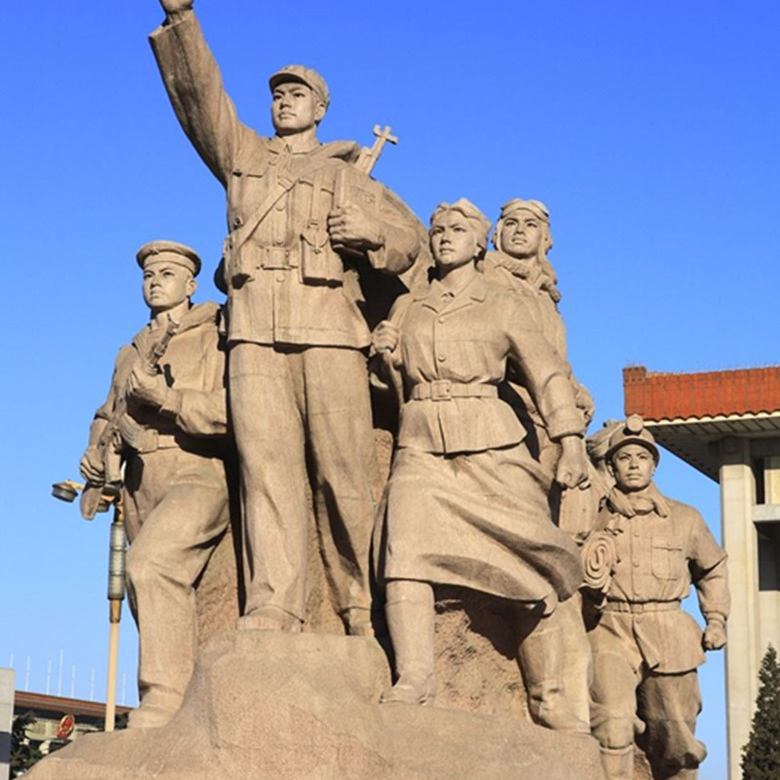 【人物雕塑0378】军事人物石雕像定做