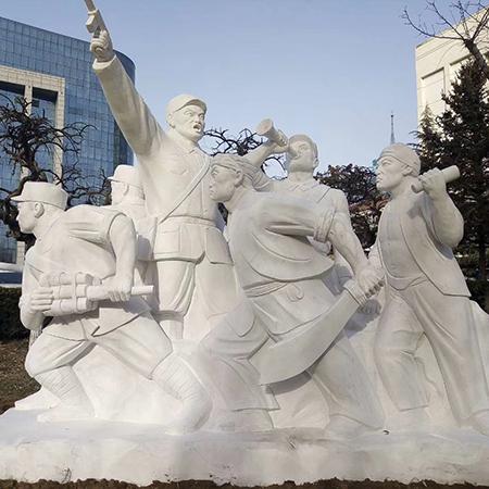 【人物雕塑0379】军事人物石雕像哪家好