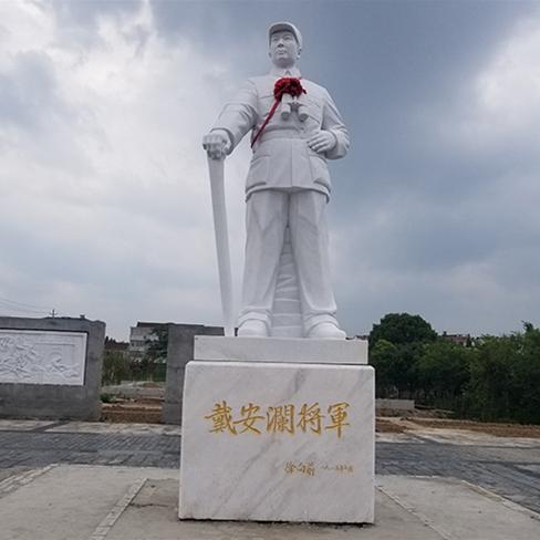 【人物雕塑0380】军事人物石雕像供应
