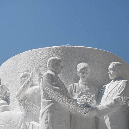 【人物雕塑0381】军事人物石雕像报价