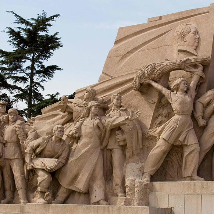 【人物雕塑0385】军事人物石雕像厂