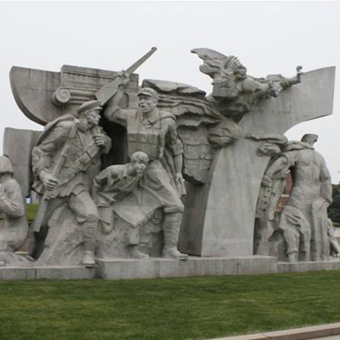 【人物雕塑0387】军事人物石雕像定制