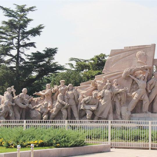 【人物雕塑0389】军事人物石雕像厂家
