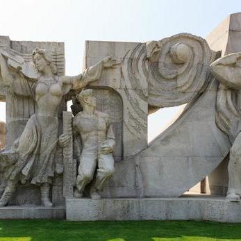 【人物雕塑0392】军事人物石雕像供应