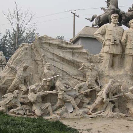 【人物雕塑0395】军事人物石雕像多少钱