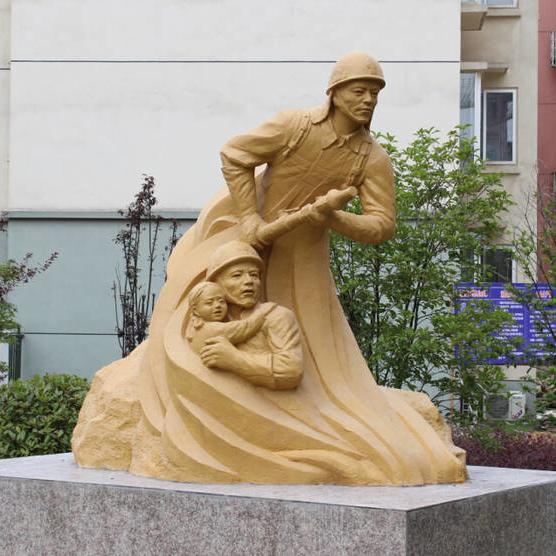 【人物雕塑0401】军事人物石雕像厂家
