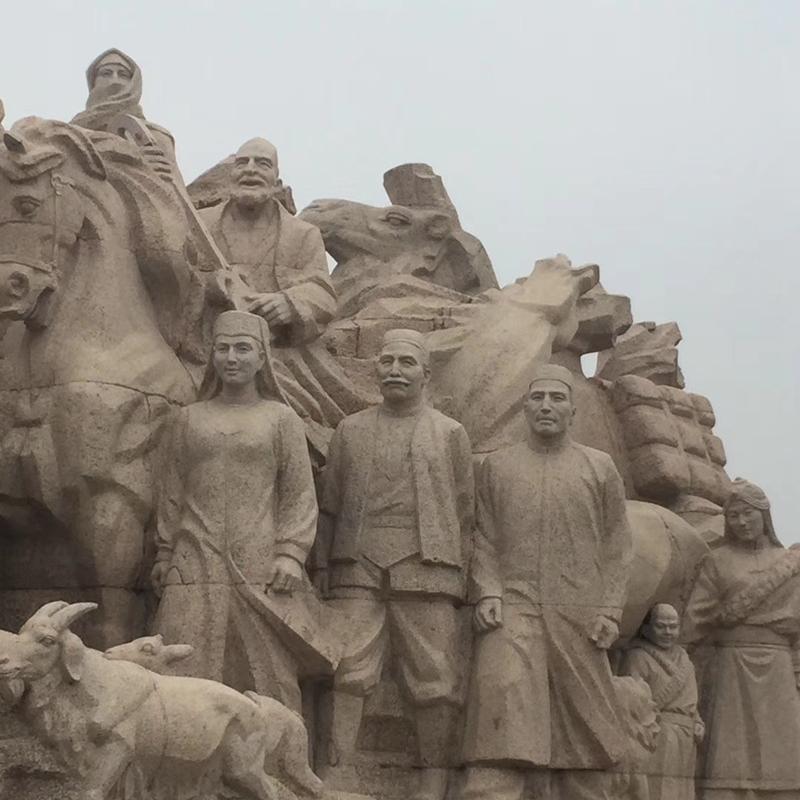【人物雕塑0402】军事人物石雕像定做