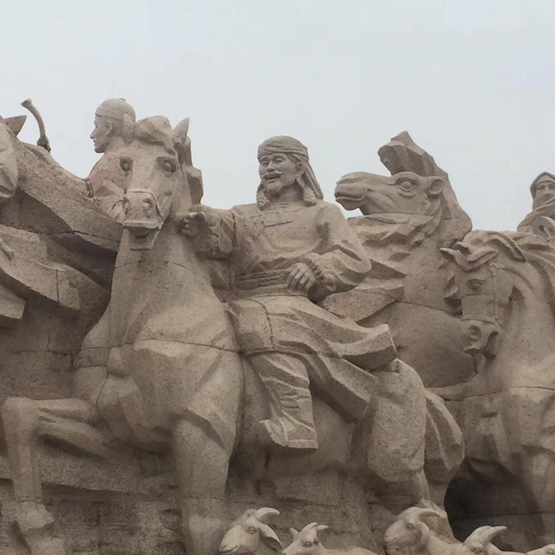 【人物雕塑0404】军事人物石雕像供应