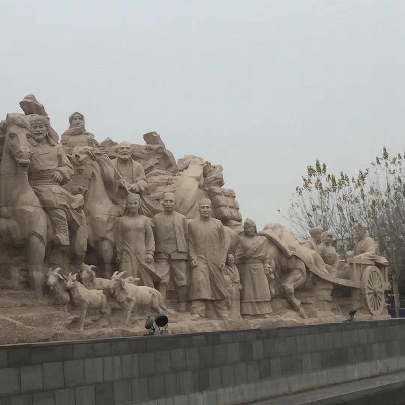 【人物雕塑0405】军事人物石雕像报价