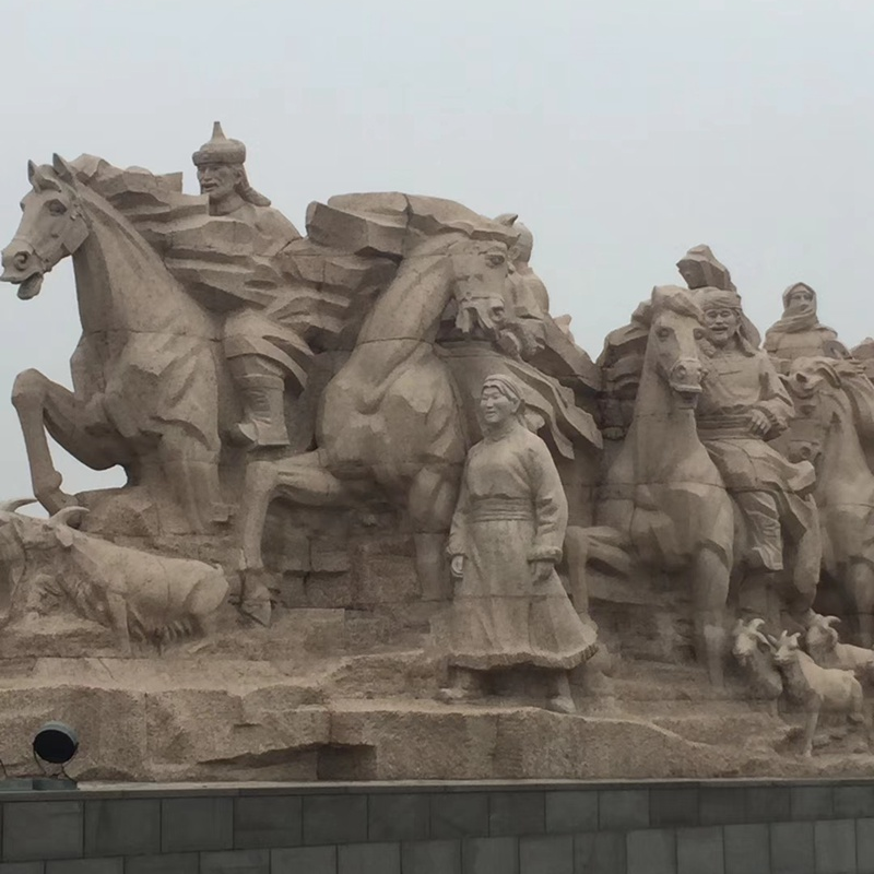 【人物雕塑0406】军事人物石雕像价格
