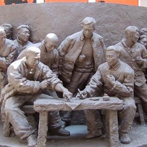 【人物雕塑0407】军事人物石雕像多少钱