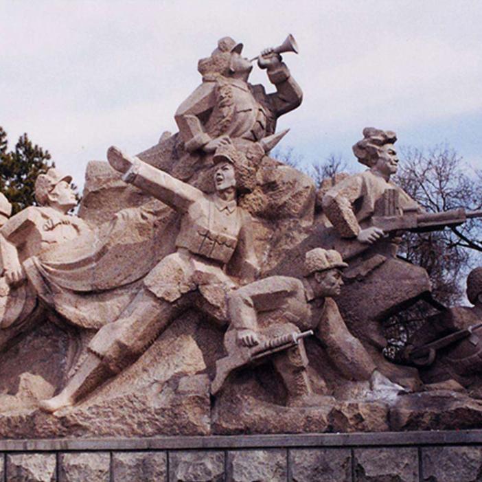 【人物雕塑0410】军事人物石雕像批发