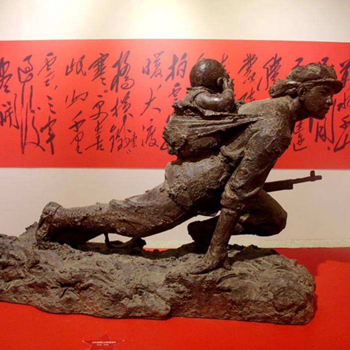 【人物雕塑0411】军事人物石雕像定制