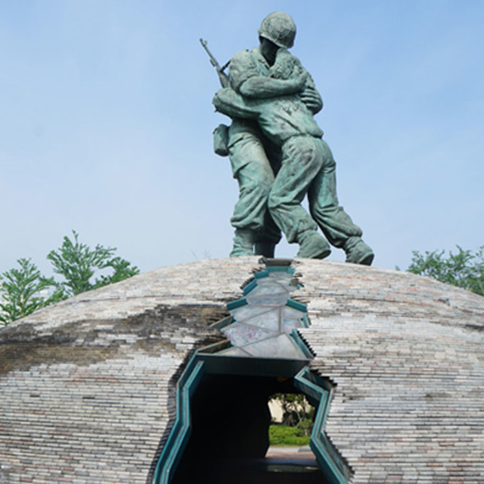 【人物雕塑0412】军事人物石雕像公司