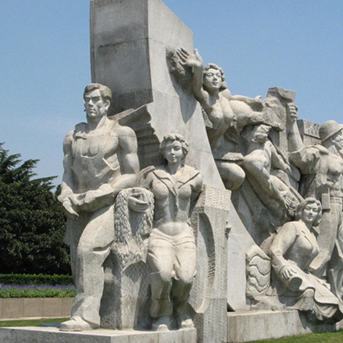 【人物雕塑0413】军事人物石雕像厂家