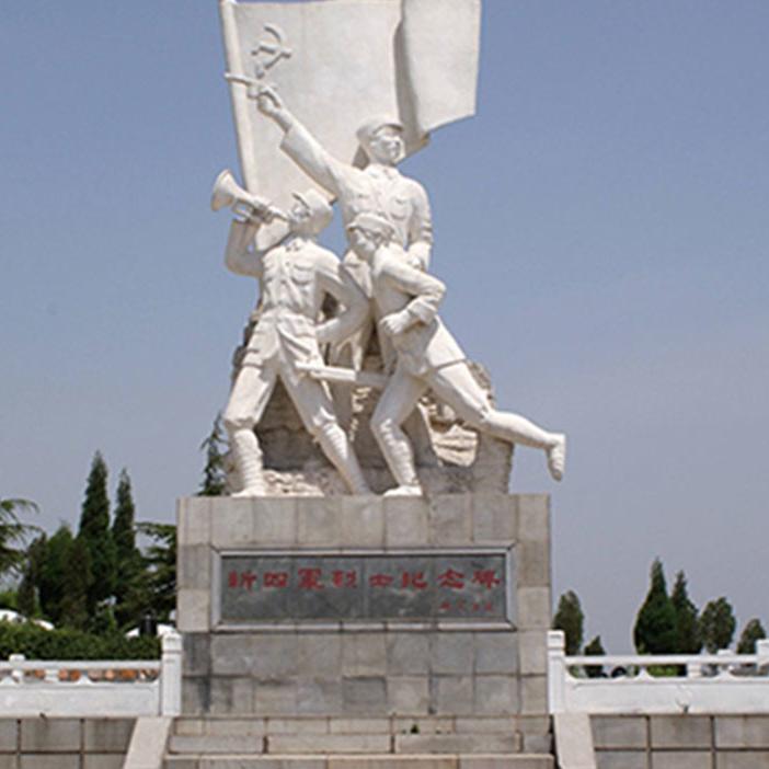【人物雕塑0414】军事人物石雕像定做
