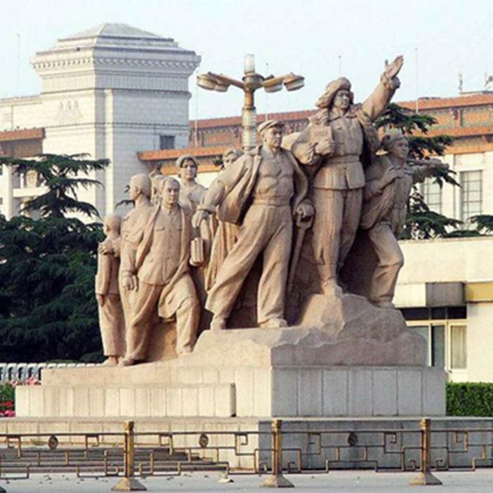 【人物雕塑0416】军事人物石雕像供应