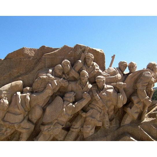 【人物雕塑0417】军事人物石雕像报价