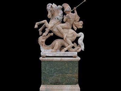 【人物雕塑0963】西方人物石雕像定