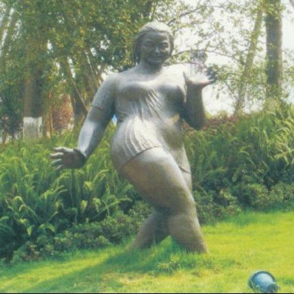 【人物雕塑1222】抽像人物石雕像供应