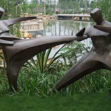 【人物雕塑1223】抽像人物石雕像报价