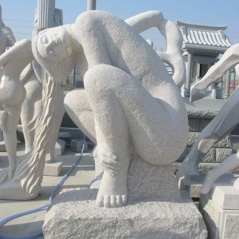 【人物雕塑1224】抽像人物石雕像价格