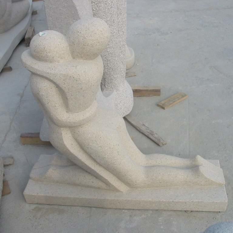 【人物雕塑1226】抽像人物石雕像雕刻厂