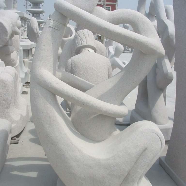 【人物雕塑1228】抽像人物石雕像批发