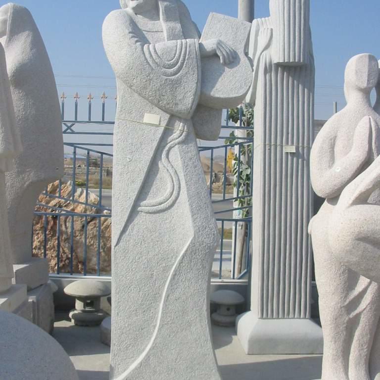 【人物雕塑1229】抽像人物石雕像定制