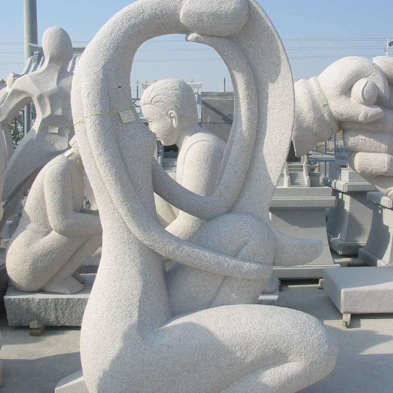 【人物雕塑1230】抽像人物石雕像公司