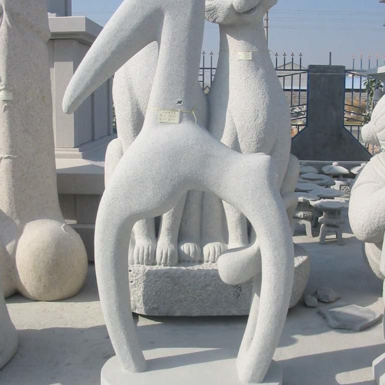 【人物雕塑1232】抽像人物石雕像定做