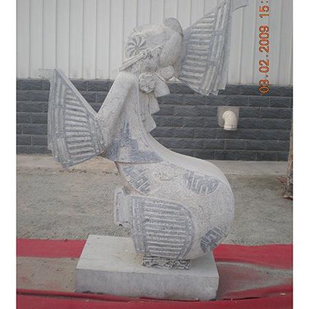 【人物雕塑1235】抽像人物石雕像报价