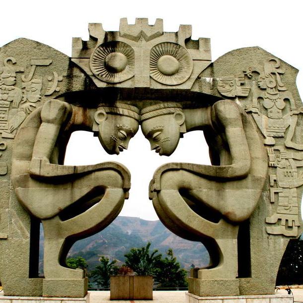 【人物雕塑1248】抽像人物石雕像价格