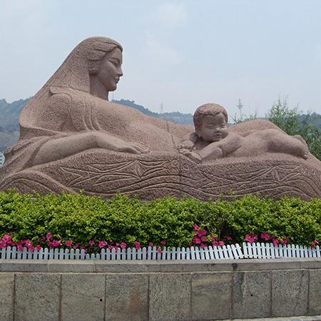 【人物雕塑1251】抽像人物石雕像厂