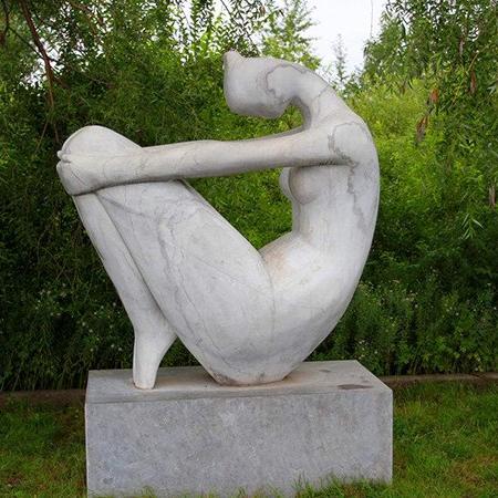 【人物雕塑1254】抽像人物石雕像公司