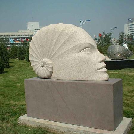 【人物雕塑1255】抽像人物石雕像厂家