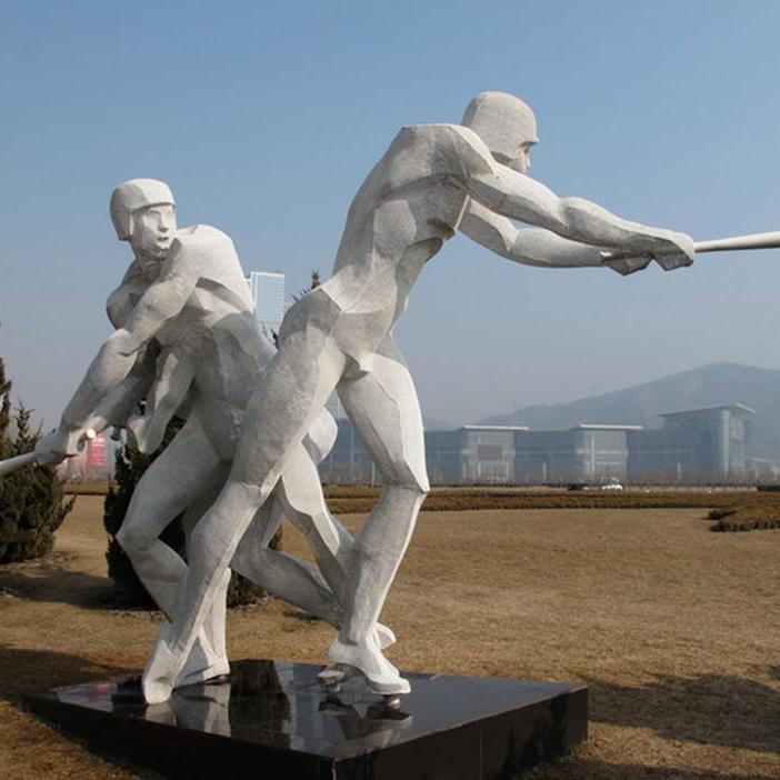 【人物雕塑1259】抽像人物石雕像报价