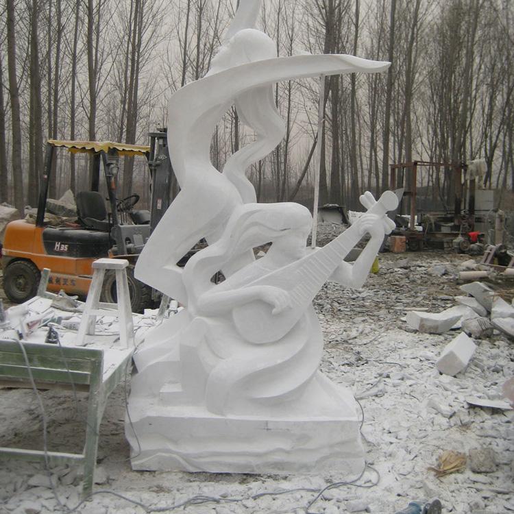 【人物雕塑1265】汉白玉抽像人物石雕像定制