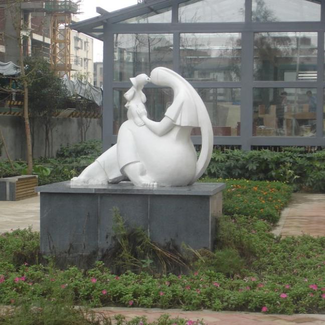 【人物雕塑1266】汉白玉抽像人物石雕像公司